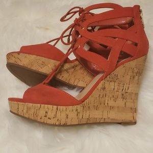 Guess Wedge Tie-up Sandals (9)
